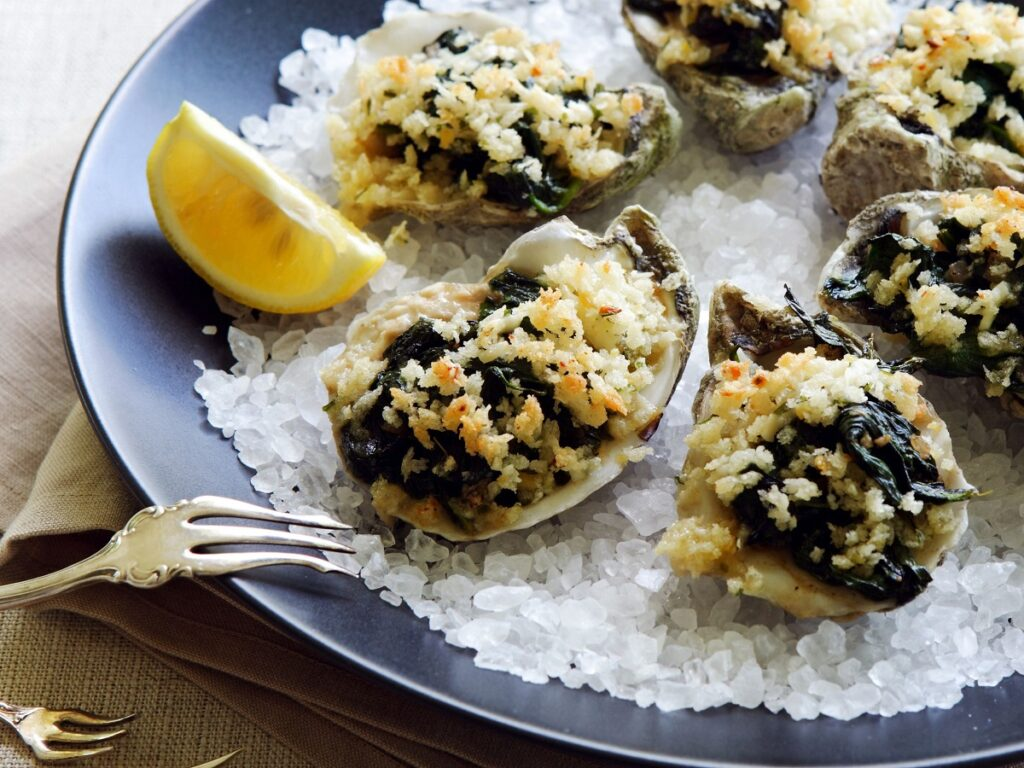Oysters Rockefeller - Eat My Memoir stories by Ann Landi